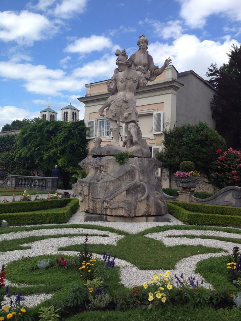 Statue in Mirabell Palace and Gardens