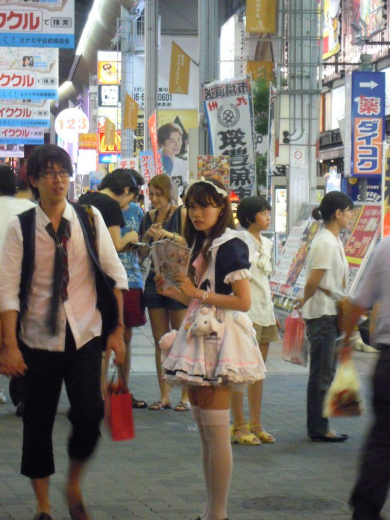 Maid on street