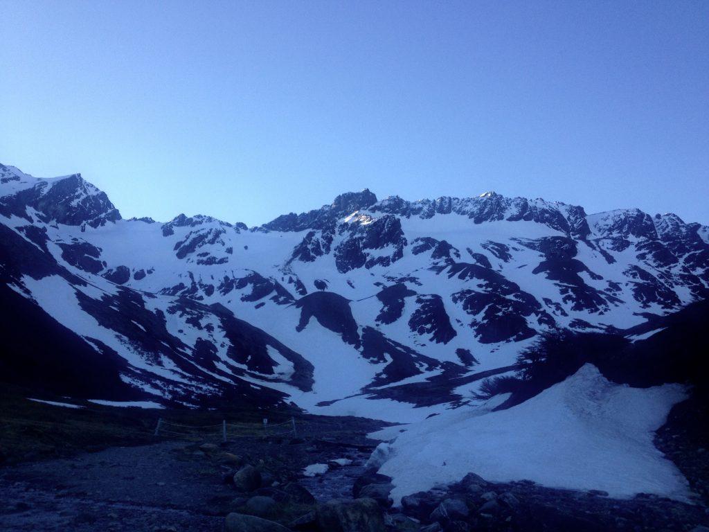 Glacier in Ushuaia.