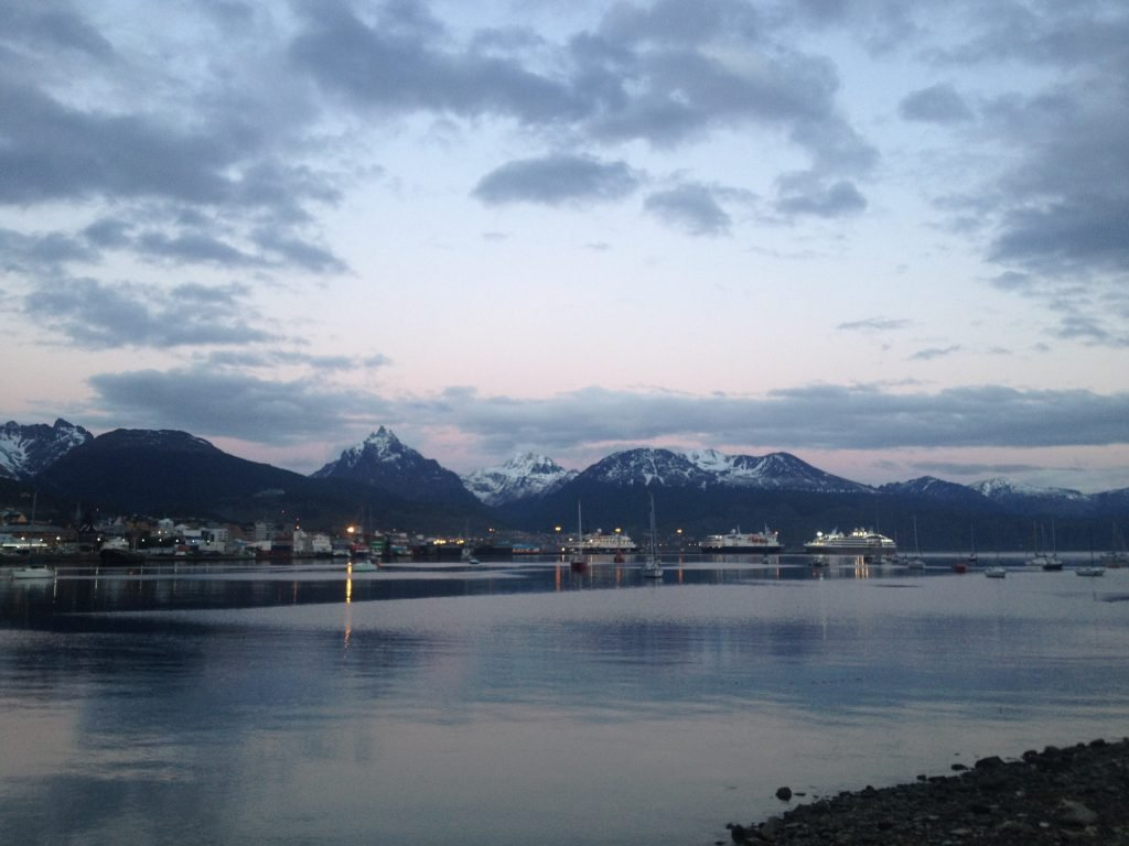 Ushuaia by evening.
