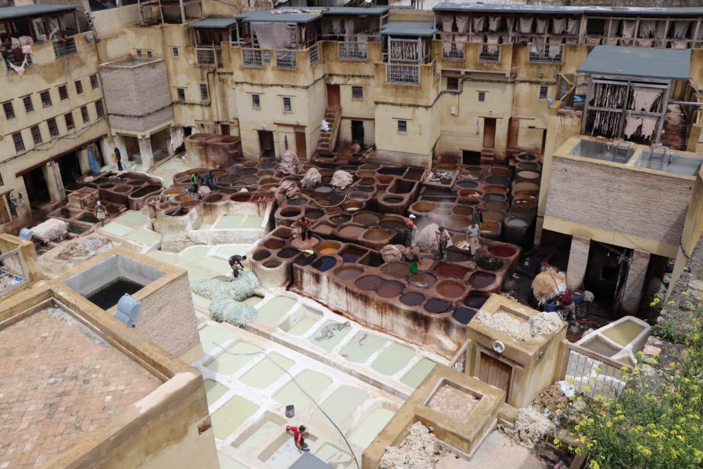 tanneries morocco