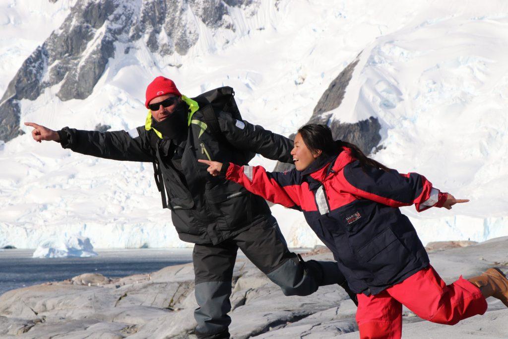 Antarctica pose