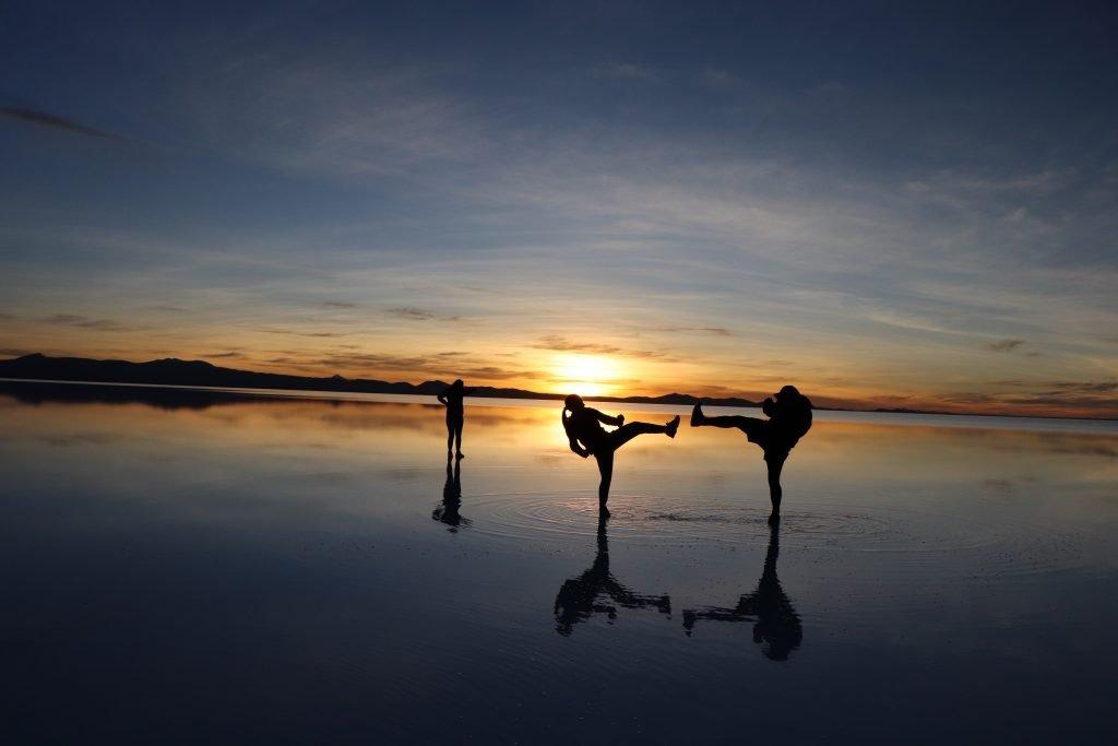 Shadows Salar de Uyuni