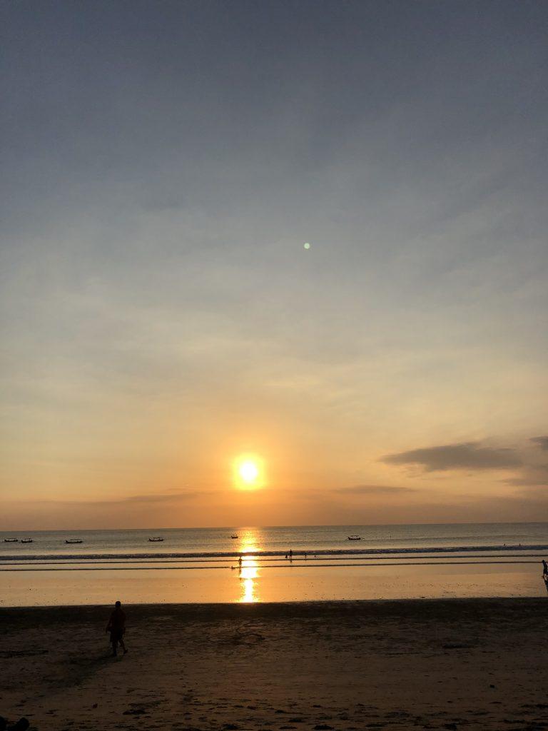 Sunset Bali Kuta Beach
