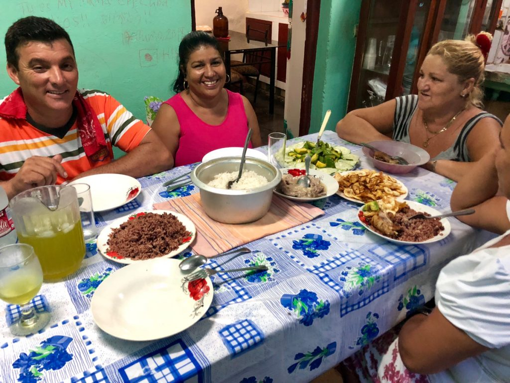 dinner with cuban family