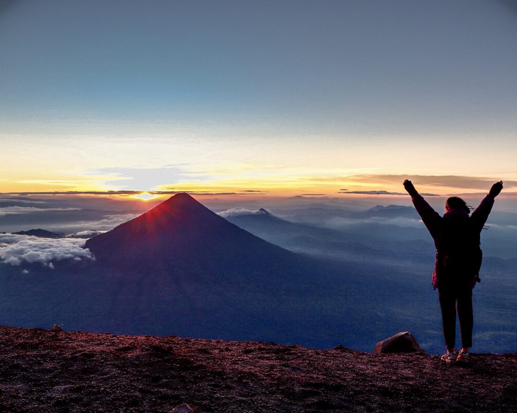 Volcano Acatenango sunrise