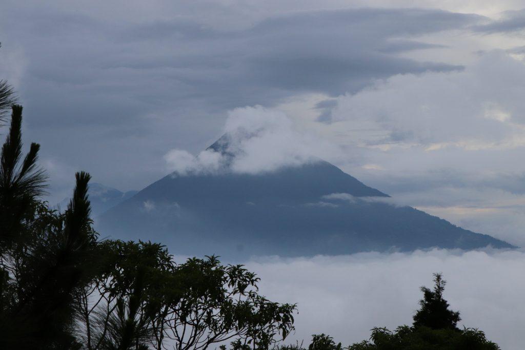 trekking a volcano