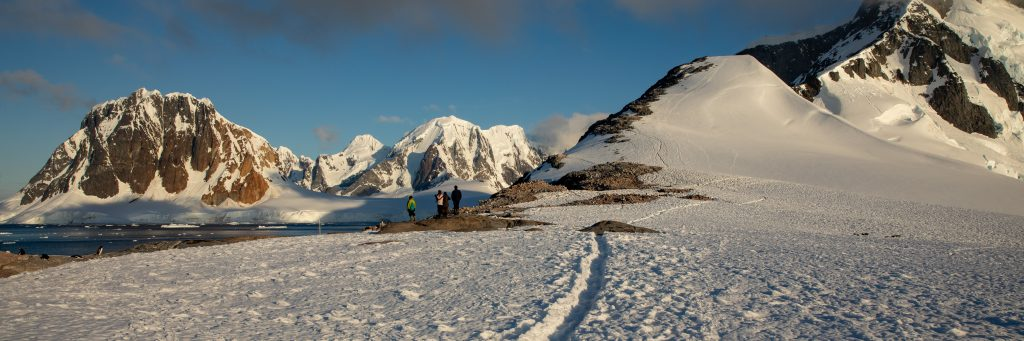 hiking in antarctica
