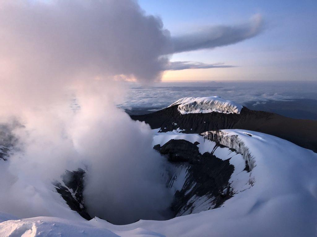 Cotopaxi active volcano