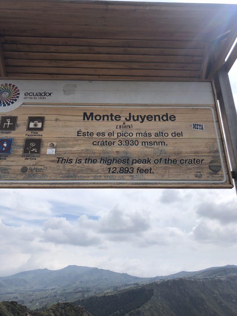 hiking around Quilotoa