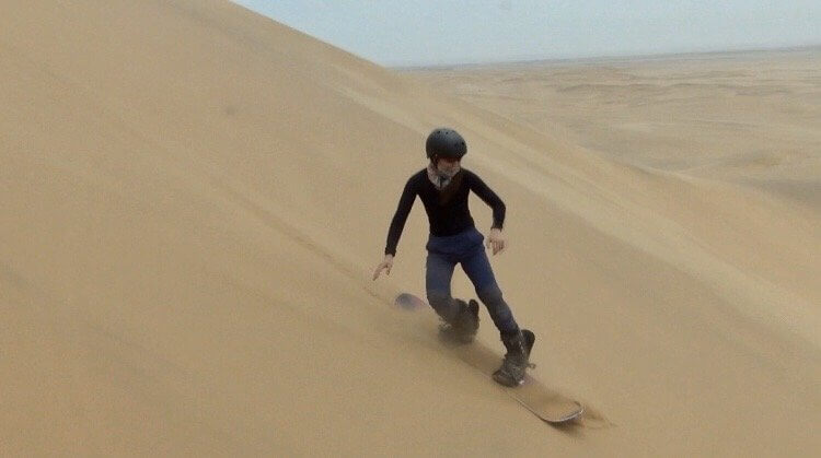 Sanboarding in Namibia