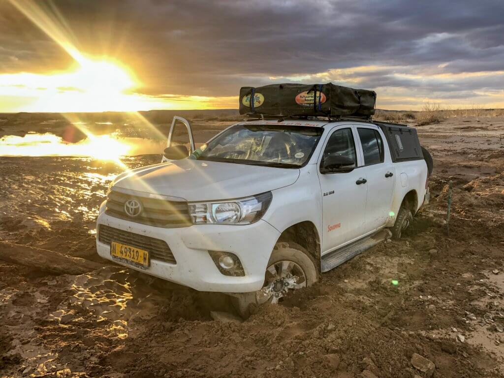 Stuck on the Road in Namibia